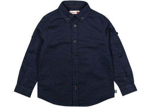 Boboli overhemd blauw linnen