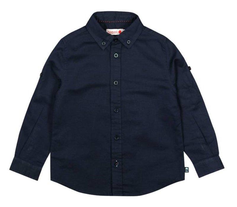 overhemd blauw linnen