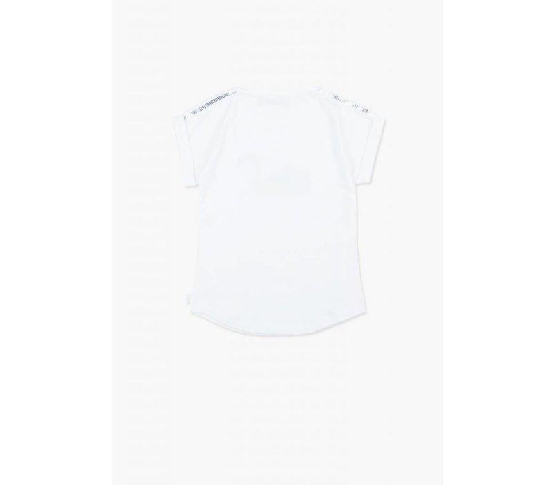 shirt met zilveren zwaan