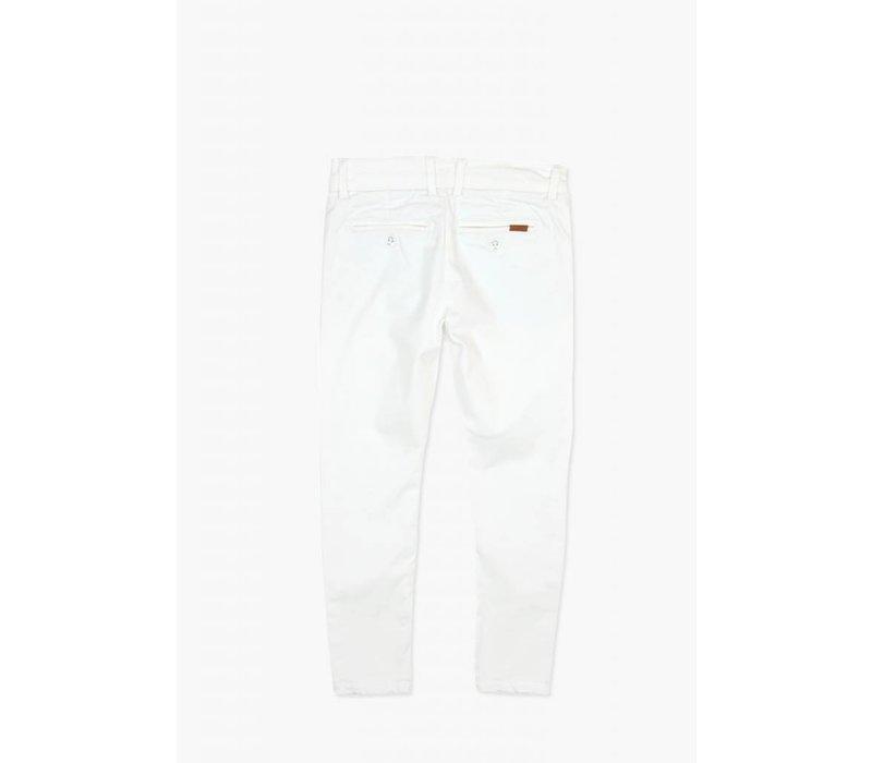 broek wit lang met steekzakken