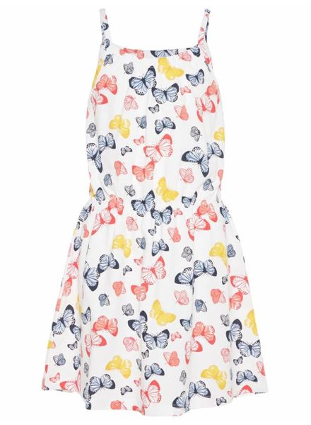 Name it 13154802 nkfvigga strap dress bright white butterfly