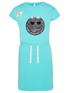 Name it 13161609 nkfhappy elise ss slim dress lic pool blue