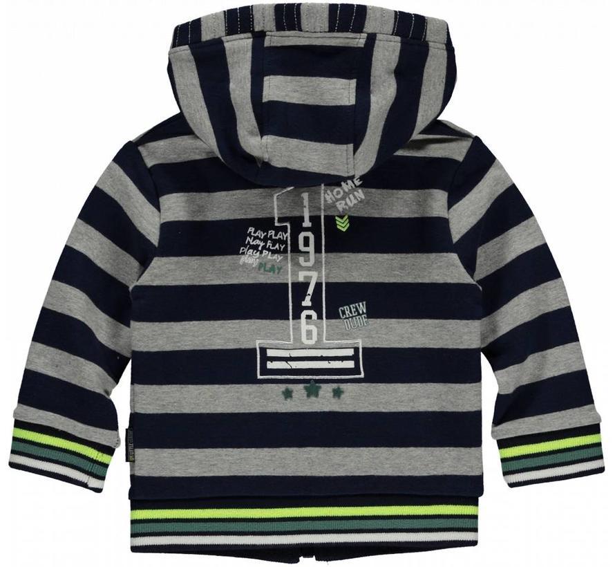 Marciano vest navy stripe