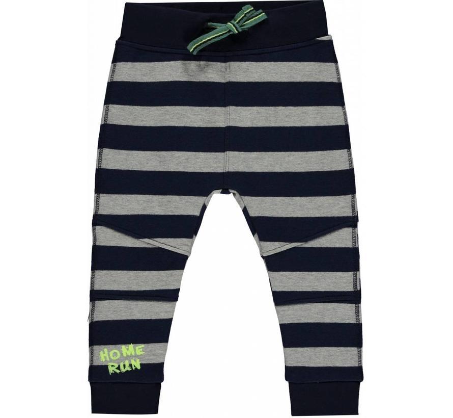 Marinus broek navy stripe