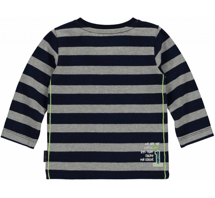 Mads longsleeve navy stripe