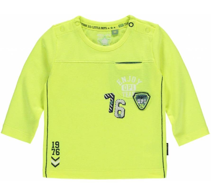 Maarten longsleeve neon yellow