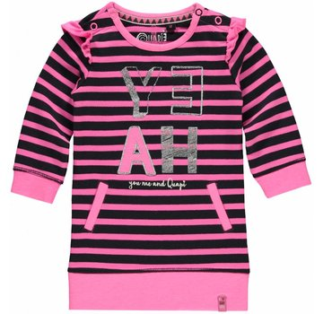 Quapi SALE Malou sweatjurk sugar stripe
