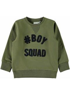 Name it 13157079 Nmmnanok sweater bumt olive