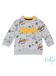 Feetje 51601103 sweater lm grey melange