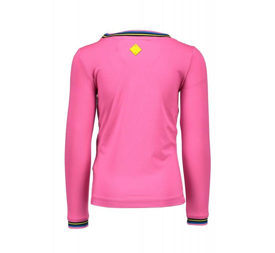 Y808-5473 T-shirt Neon Magenta