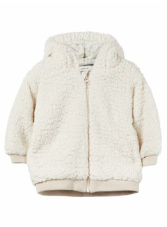 Name it 13155608 nbnmiffi teddy jacket white asparagus