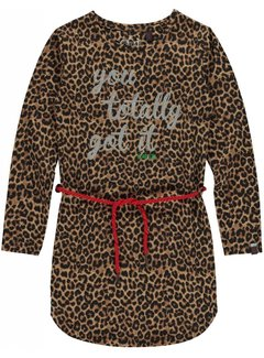 Quapi lamira 2 leopard dress