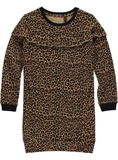 Quapi leonie leopard dress