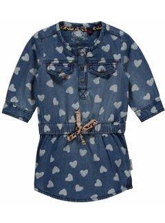 Quapi Maartje 2 blue denim jurk