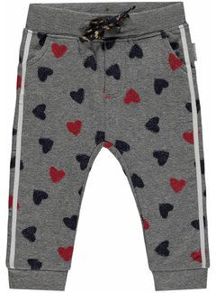 Quapi Monique Grey Melee Heart sweat pants