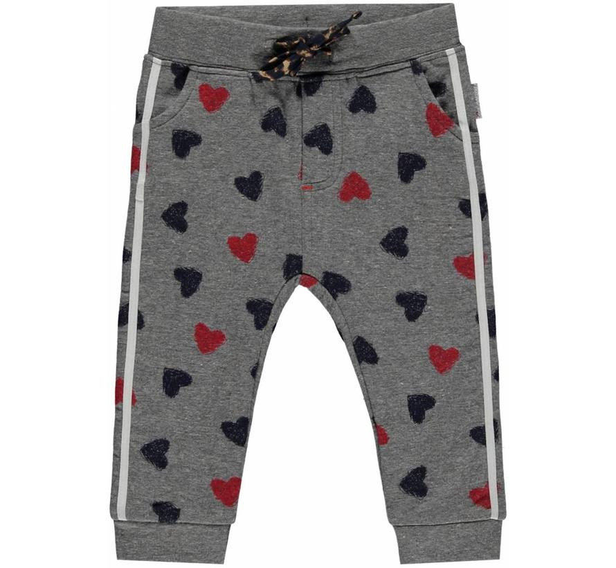Monique Grey Melee Heart sweat pants