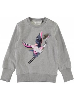 Name it 13160225 nkfnelly sweat grey melange