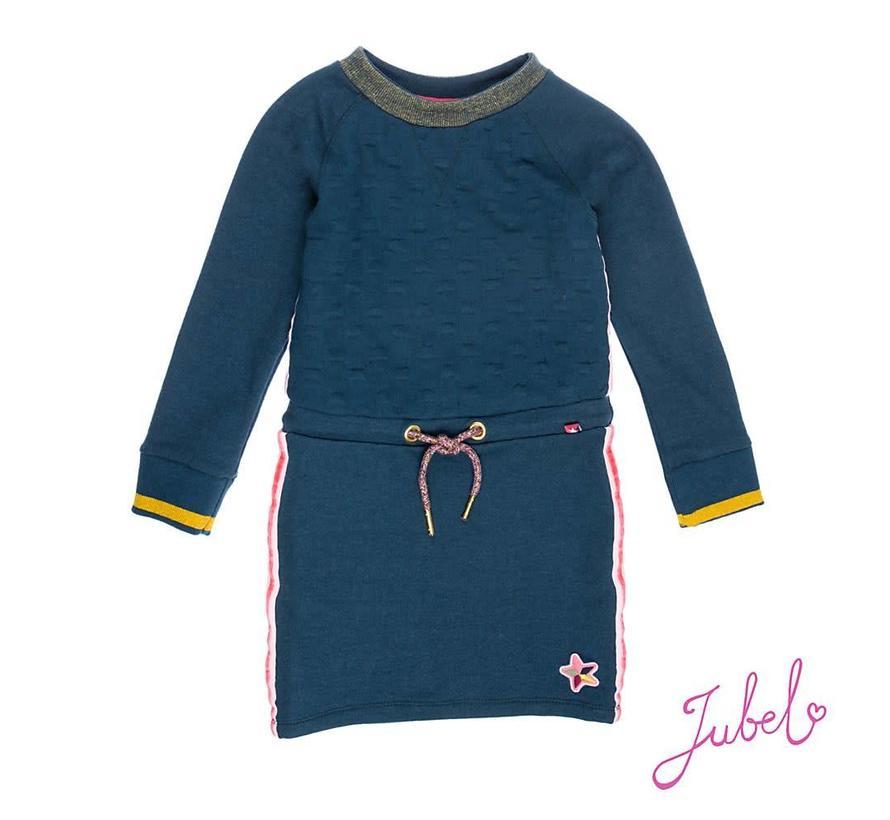 SALE 91400188 jubel jurk blue melange