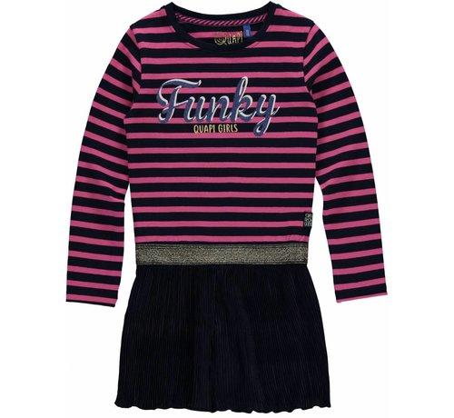 Quapi SALE Lisa jurk dark blue stripe