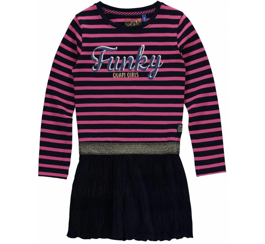 SALE Lisa jurk dark blue stripe