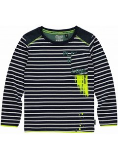 Quapi Levi longsleeve navy stripe