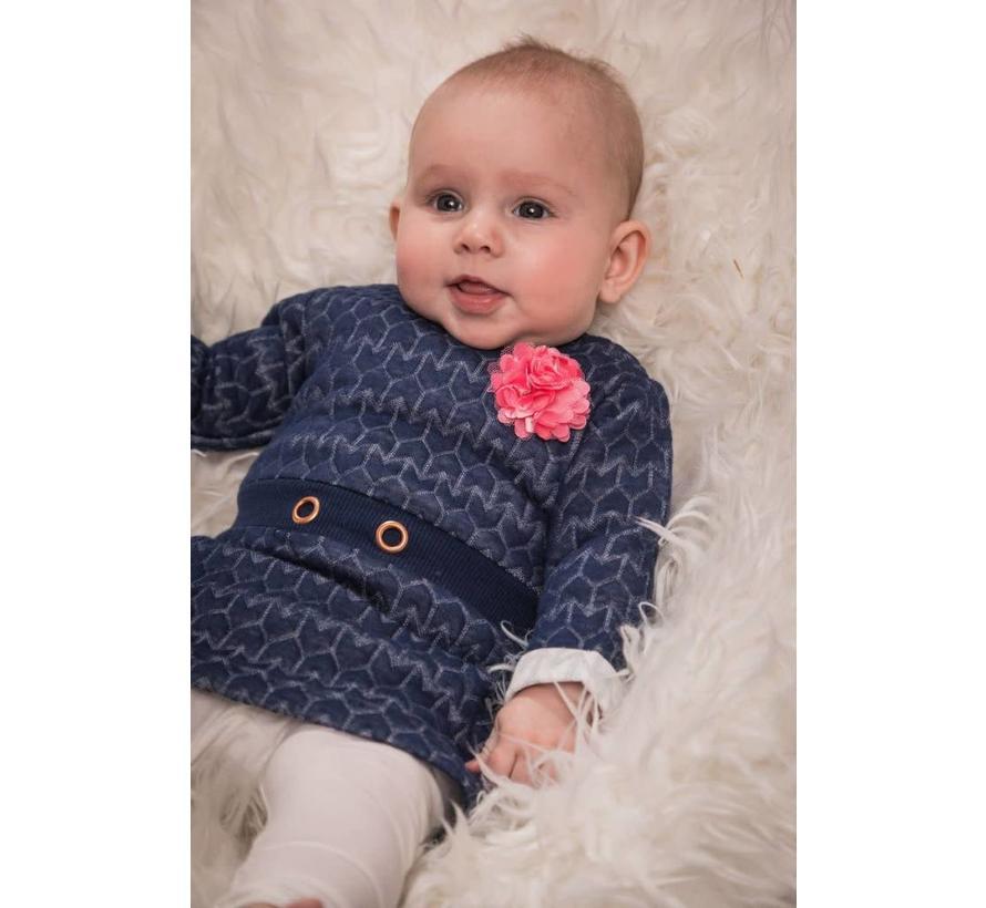 31Z-29260 3 delig Dress: 60% Polyester/ 40% Cotton; Legging: 95% Cotton