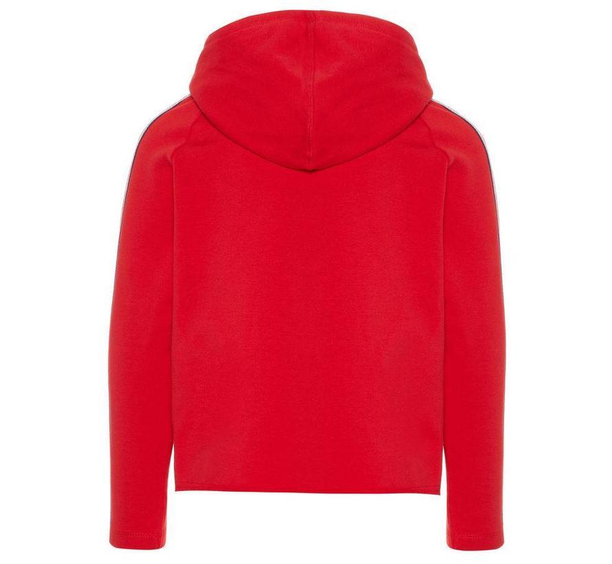 13163771 Nkflily hood sweater true red