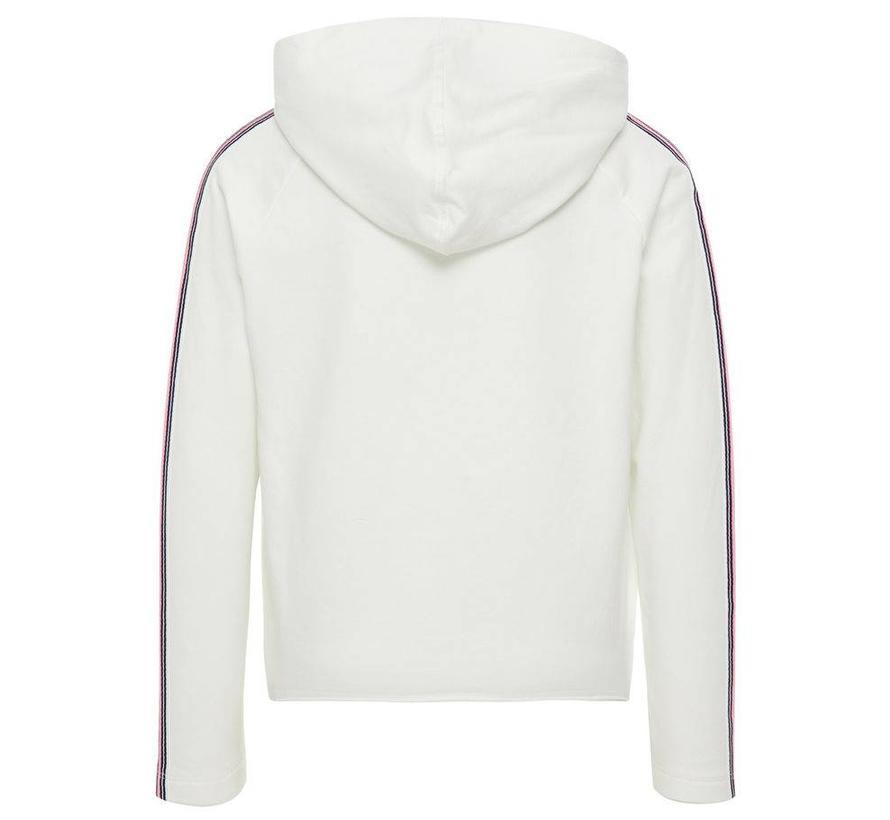 13163771 Nkflily hood sweater bright white