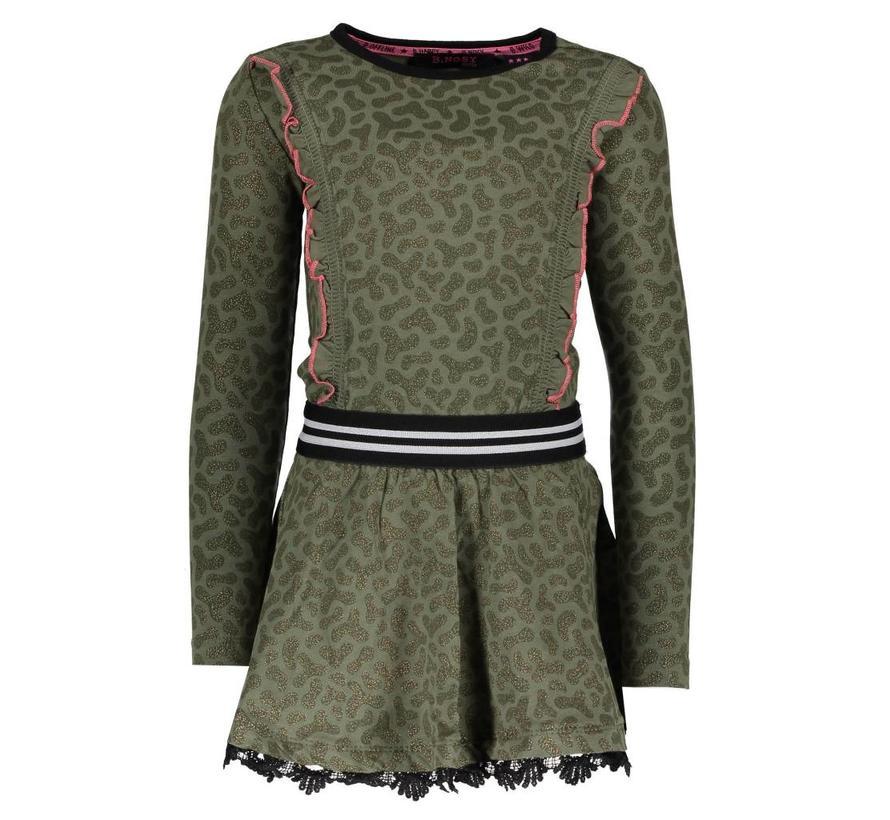 Y809-5831 908  jurk Panther AO crocodile