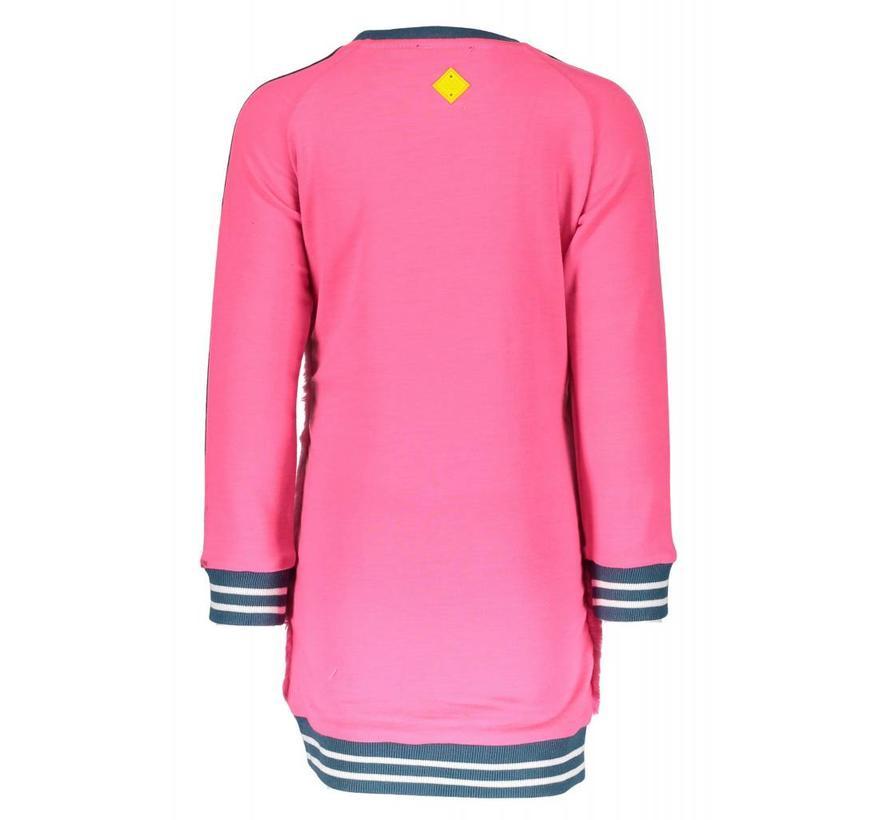 SALE Y809-5882 283  jurk neon magenta