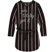Quapi Lamira 2 dark grey stripe dress