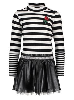 B.NOSY Y810-5807 jurk zwart streep