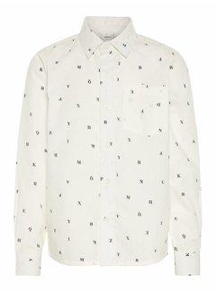 Name it 13156346 Nkmelias overhemd snow white