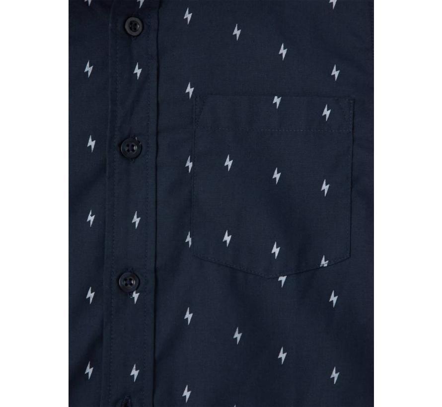 SALE 13156346 Nkmelias overhemd dark sapphire