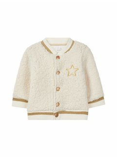 Name it 13159617 Nbfrille teddy vest snow white