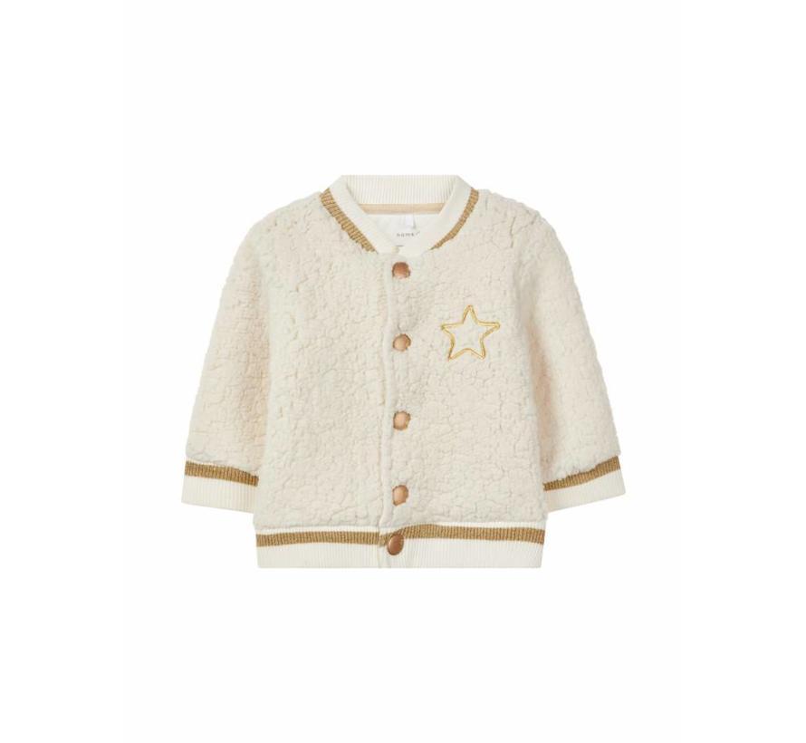 13159617 Nbfrille teddy vest snow white