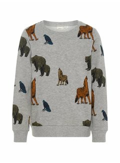 Name it 13162605 Nkmsituson sweater grey melange