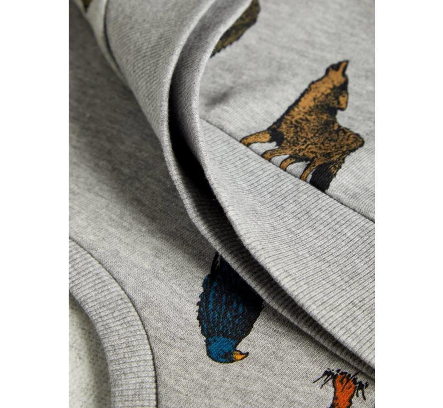 13162605 Nkmsituson sweater grey melange