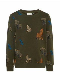 Name it 13162605 Nkmsituson sweater forest night