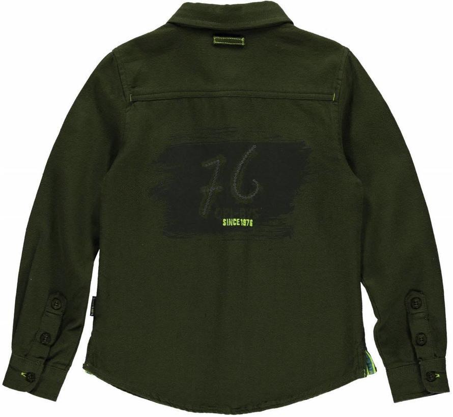 SALE Louis  overhemd dark green