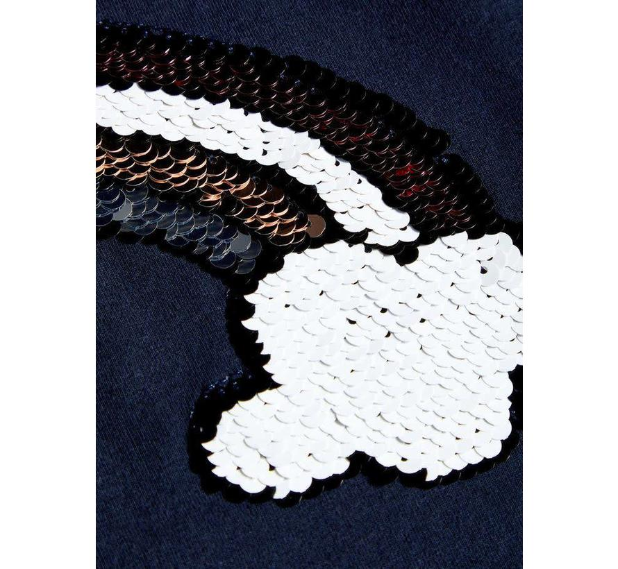 13167594 Nkfisla sequins top dark sapphire