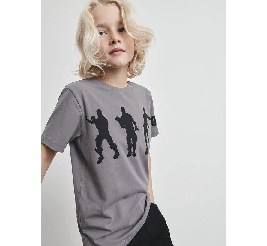 13168702 KIDS FORTNITE T-SHIRT grijs