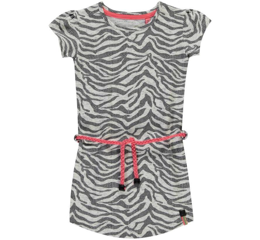 Saar grey zebra jurkje