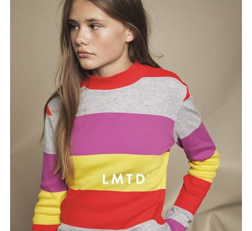 LMTD 13162705 Nlfberika turtleneck top grey melange