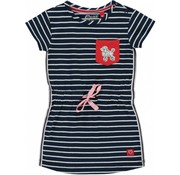 Quapi Riva dress navy stripe
