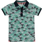 Quapi Sherman polo ocean green triangle
