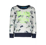 B.NOSY -6321 983 AO white africa animals Boys sweater