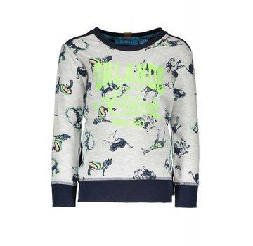 B.NOSY -6321 983 AO white africa animals Boys sweater