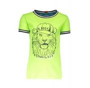 B.NOSY 6423 507 - Neon yellow Boys lion shirt