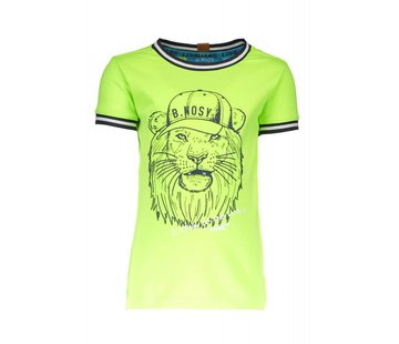 B.NOSY 6423 507 - Neon yellow Boys lion shirt
